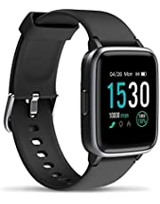 Buxaz Uberfit 1.3 Full Touch Screen Smart Watch, 5Atm Waterproof Fitness Tracker Band