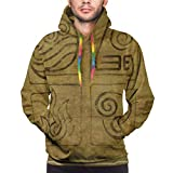 3D Hoodie Outerwear Front Pocket Men Trendy Hooded Tops Sweater Tracksuit...