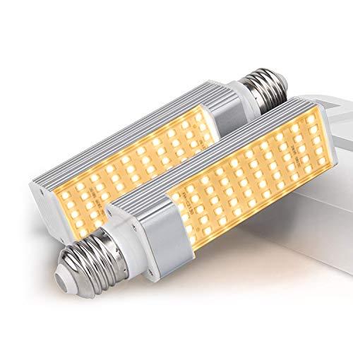 50W LED Grow Light Bulbs 2 Stück E27 Austauschbare Glühbirne für Pflanzen Pflanzen Solarlampe Vollspektrum Vergrößerung Lampe für Zimmerpflanzen, Pflanzen, Wachstum und Früchte