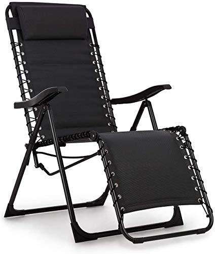 Wildlead sillón reclinable tapizado, Respaldo Regulable, Estructura de Acero, Almohada móvil y Regulable en Altura