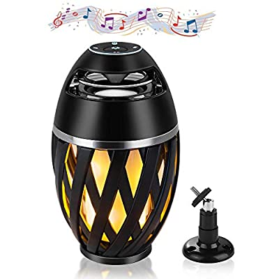 Bluetooth Speakers Portable Wireless – Outdoor Bluetooth Speaker with LED Lights – Romantic Flame Atmosphere Lantern– Stereo Sound –Best Gift – Ideal for Camping, Picnic, Home, Indoor from BAVISION