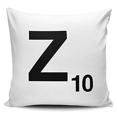 CarterIsaac Alphabet Letter Scrabble Cushion Pillow - Letter Z With Inner/Insert