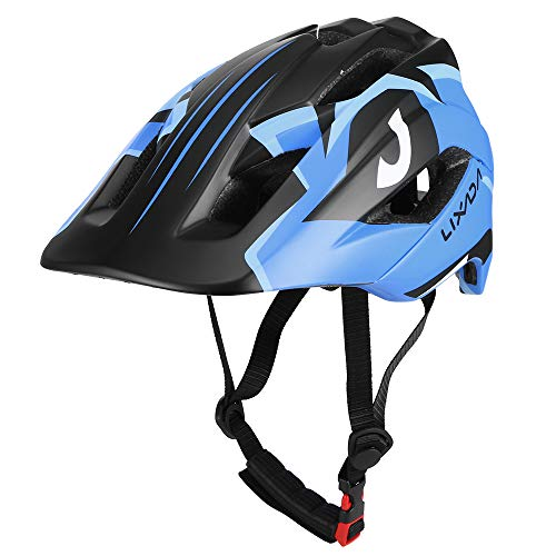 Lixad Kinder Abnehmbarer Integralhelm Kinder Sportschutzhelm für Radfahren Skateboard Rollschuhlaufen (Blau)