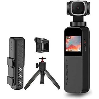 Snoppa Vmate 3軸ジンバルカメラ 4k ビデオカメラ 81°の画角(FOV) タッチスクリーン レンズ回転90° 4K/60fps動画 内蔵マイク&Bluetoothマイク接続 Wi-Fiでスマホと接続 手ブレ防止 顔検出&オートトラック ブロードキャストモー ド 120gの軽量 携帯便利ベースと延長三脚が付き