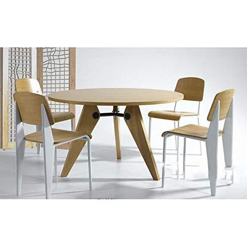 LSX-salontafel Koffietafel - modern minimalistisch Deens kantoor Japanse zakelijke vergadertafel Europese massief hout klein appartement Deense ronde eettafel bijzettafel