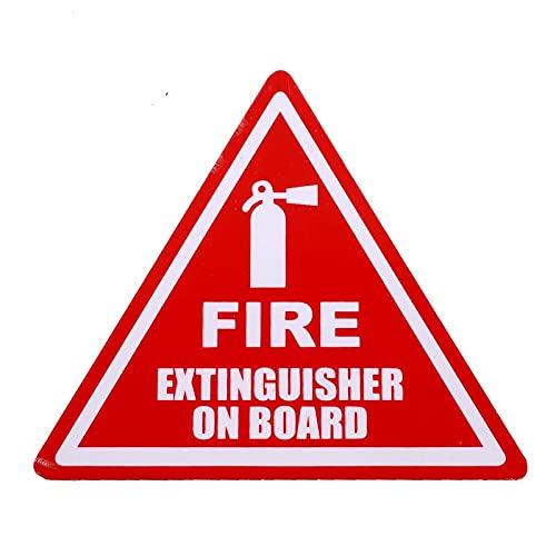 A/X 13 cm 10,7 cm para extintor de Incendios a Bordo Pegatinas de Coche calcomanía de Vinilo Parachoques Impermeable