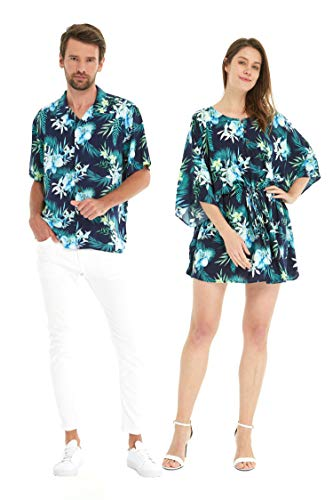 난초 브리즈의 하와이안 루아우 셔츠와 폰초 드레스
