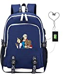 Bgdo.cccc Borse scuola Zainetti per bambini Sportivo Fitness Viaggio Zaino Unisex Misura Anime USB Charging Bookpack Cartoon School Bag Laptop Bags Travel Men,USB-yuri dog