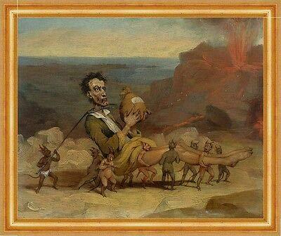 Kunstdruck A Caricature of Edward Bulwer Lytton 1803-1873 Browne B A3 02187 Cadre