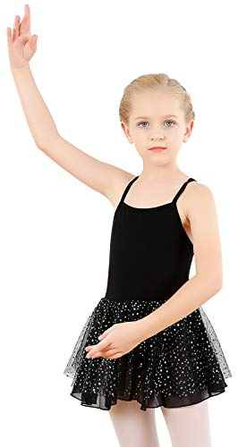 Maillot de Danza Vestido de Ballet con Falda de Estrellas de Gasa para niñas