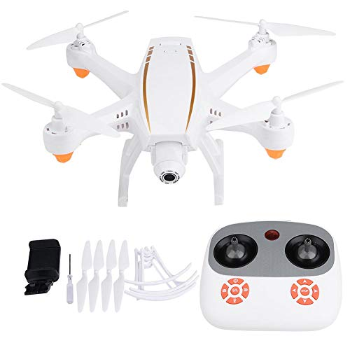 Bicaquu RC Drone, F20 2.4GHz Headless Mode Quadcopter with WiFi HD Wide Angle Lens Camera, Real-Time Image Transmission, One-Key Return Function(#1)