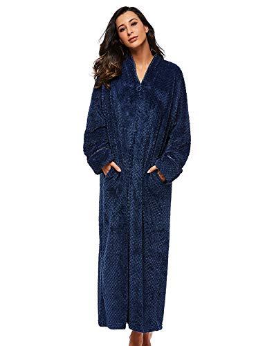 BELLOO - Bata - Manga larga - para mujer Azul azul marino L