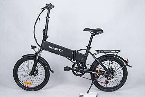 MYATU 3 E-Bike Faltfahrrad Elektisches Fahrrad Weiß