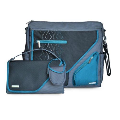 JJ Cole Metra - Bolso de maternidad, color negro/azul