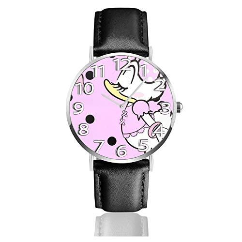 Orologio con cinturino in Pelle analogico al quarzo da 38 mm, Beauty Daisy, Unisex