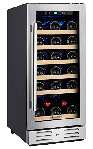 "Kalamera 15"" Wine Cooler and Fridge 30 Bottle Built-in Wine Refrigerator - For..."