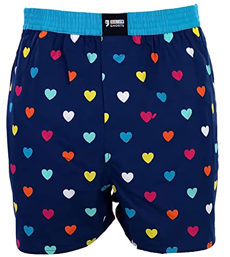Happy Shorts Webboxer Herren Boxer Motiv Boxershorts Farbwahl, Grösse:L, Präzise Farbe:Design 35