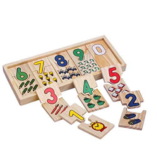 BSTEle Juguete de números de Madera Números de Juguete de matemáticas de Madera Rompecabezas de Aprendizaje para niños Juguetes educativos