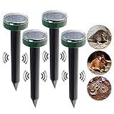 4Pcs Mole Rat Repellent Solar Ultrasonic Repeller Spike Garden Pest Deterrent Outdoor Ultrasonic
