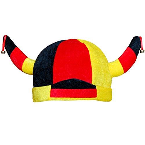 thb Richter Deutschland Fanhut Wikingerhut Fanartikel Fußball WM EM Hut Hüte Fanclub Germany Karneval