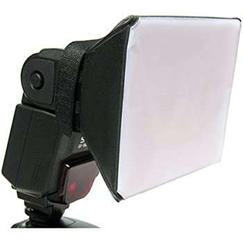 Panasonic Sony Polaroid Mini Universal Studio Soft Box Flash Diffuser for Canon EOS Olympus Sigma 3.5 x 3.5 Screen Pentax /& Other External Flash Units Nikon