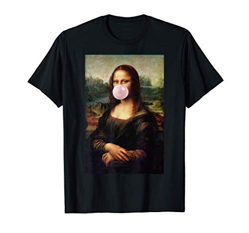 Mona Lisa Leonardo da Vinci camisa chicle goma de mascar Camiseta