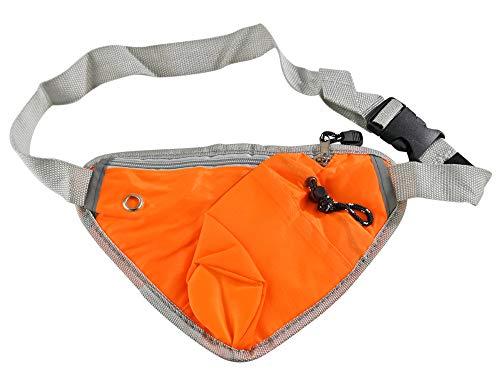 "Home-X Hiking Waist Bag Fanny Pack w/Water Bottle Holder, Running & Dog Walking, Adjustable Waist Belt Bag Running Belt Sport Waist Pack/Pouch with Water Bottle Cellphone Holder-10 x6.5"", Orange"