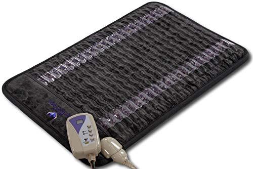 Ereada® Amethyst Bio-Stimulation Mini Mat - Gray 32'L x 20'W (80x50 cm) - Natural Crystals - Adjustable FIR Heating Pad 30-70°C (86-158°F) - Magnetic, Far-Infrared, Negative Ion & Hot Stone Therapies
