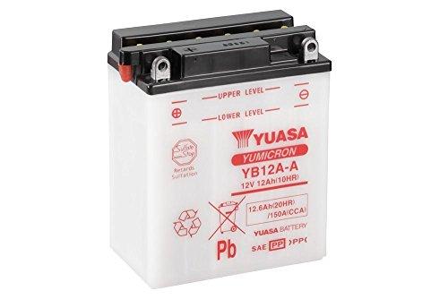 Batterie YUASA YB12A-A, 12V/12AH (Maße: 136x82x162) für Honda CR450 R Baujahr 1981