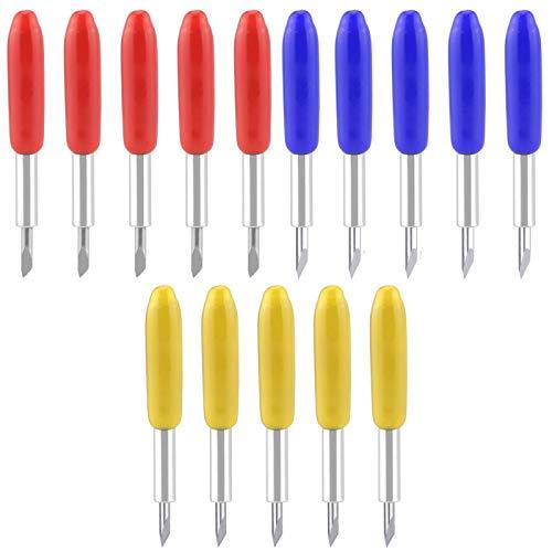 KINBOM 15PCS Lame da Taglio per Plotter Vinile 5 Pezzi 30°+5 Pezzi 45° + 5 Lame di Taglio Profondo 60° per Explore Air/Air 2 Maker/Expression