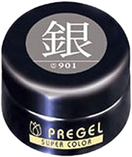 プリジェル ジェルネイル スーパーカラーEX 銀 4g PG-SE901