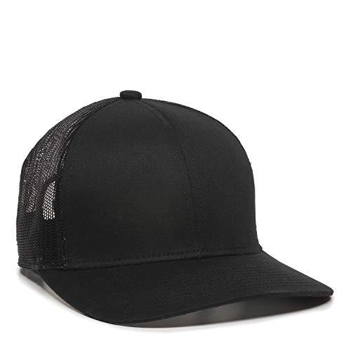 Outdoor Cap Structured mesh Back Trucker Cap, Black, One Size