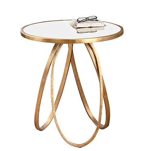 Bureau DD plank, bijzettafel hoek/kant meerdere - smeedijzeren gouden salontafel/glas - metalen salontafel -werkbank