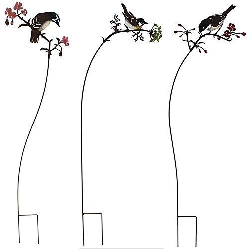 La Grande Prairie Set 3 Tuteurs Oiseaux sur Branches H : 93cm