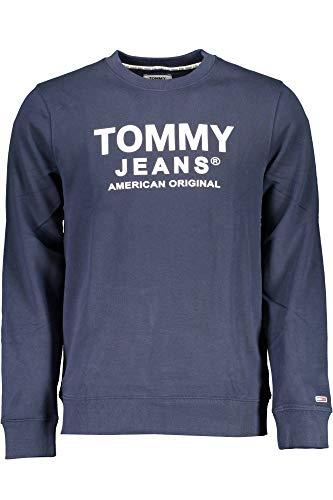 Tommy Jeans Essential Swt Sudadera con Cuello Redondo, Azul (Twilight Navy), XL Hombre