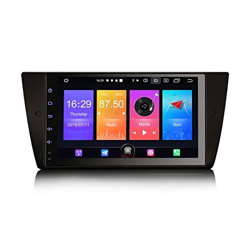 Erisin Android 10 9' Autoradio per BMW 3 Series E90 E91 E92 E93 M3 Supporta DAB+ Navi Carplay Radio Bluetooth WiFi A2DP RDS FM/AM DVB-T2 4G