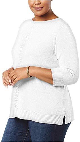 Karen Scott Plus Size Luxsoft Sweater (1X)