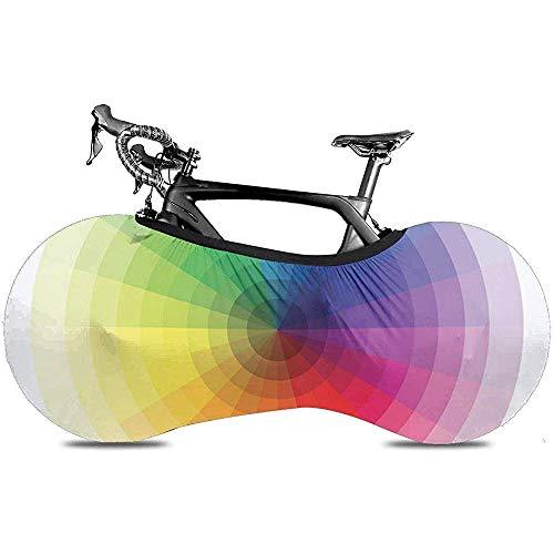 L.BAN Sweet-Heart-Fahrradradabdeckung, langlebige, Kratzfeste Protect-Reifenreifen-Fahrradabdeckung - Grafische Farbfelder mit farbigem Spektrum Kreis Pantone