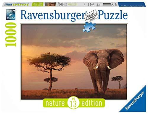 Ravensburger Nature Edition - Elefante del Masai Mara Puzzle, Foto e Paesaggi, 1000 Pezzi, 15159