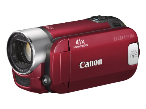 Canon LEGRIA FS 306 DVC-Camcorder (SDHC-Slot, 41-fach Advanced Zoom, 6,7cm (2,7 Zoll) Widescreen Display) silber
