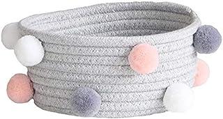 LCM Nordic Style Ballon Coton Corde de Rangement Panier de Bureau de Bureau cosmétique Robe de Rangement boîte de Rangemen...