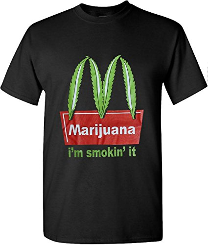 Hat and Beyond Marijuana Weed Leaf T Shirts Hip Hop Graphic New Edition (2X-Large, Black)