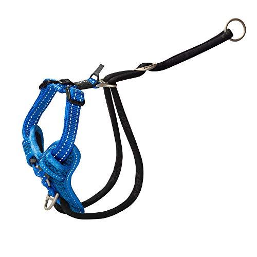 Rogz Stop Pull Dog Harness Reflective Classic Medium Blue