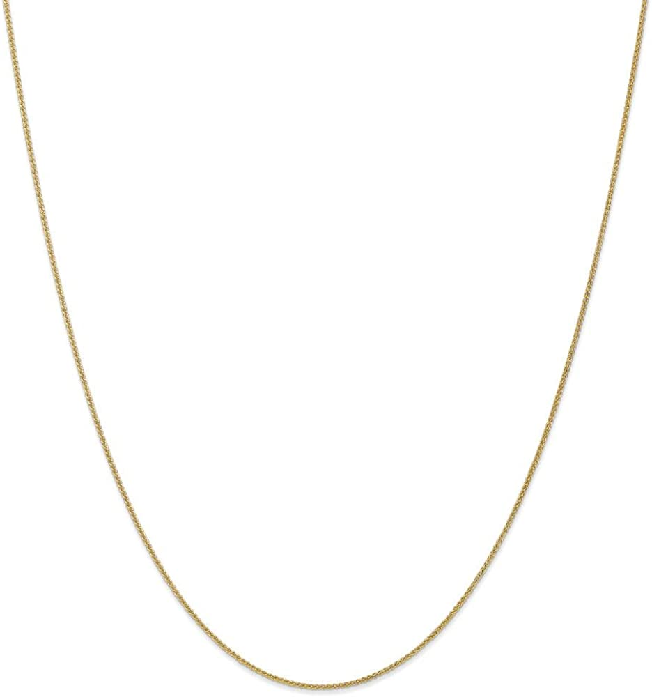 10k Yellow Gold 1mm Spiga Chain Necklace 16 Inch Pendant Charm Wheat Fine Jewelry For Women Gifts For Her