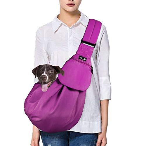 Nasjac trasportino per Cani e Gatti, a Mano Libera, con Tasca Frontale, Cintura di Sicurezza Regolabile e Imbottita, per trasportare Cuccioli