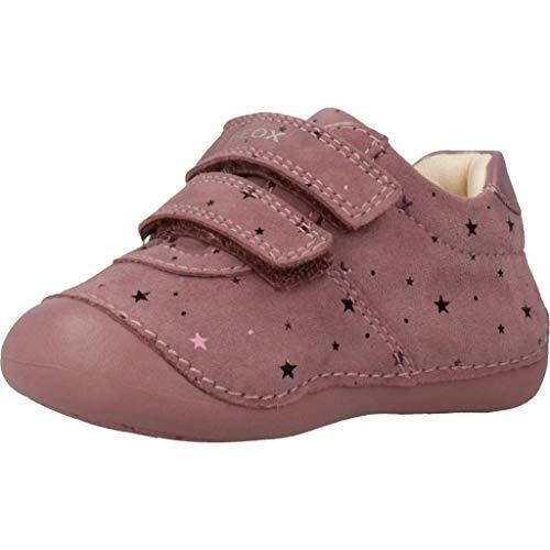 Geox B TUTIM B, Scarpe da Ginnastica Basse Bimba 0-24, Rosa (Dk Pink C8006), 18 EU