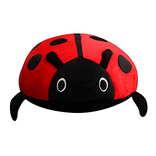 junfeng Stuffed Toy 1 Piece 40cm Cute Plush Toy Soft Creative Ladybug Ladybug Insect Hold Doll Pillow Cushion Kids Birthday Gift Home Decor