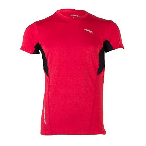 Softee T-Shirt pour Homme S Rouge/Noir