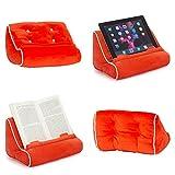 Gifts for Readers & Writers Soporte sofá de Lectura, Atril para Libros, iPad, Tablet, eReader, cojín de Descanso, Idea de Regalo - Modelo Rojo