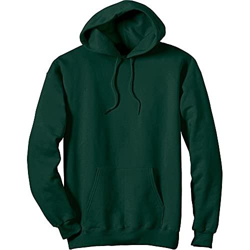 Hanes Men's Ultimate Cotton Heavyweight Pullover Hoodie Sweatshirt, Deep Forest, Large
